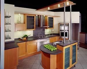 Ilot Cuisine Bois : cuisine en bois avec ilot photo 12 20 cuisine en bois ~ Teatrodelosmanantiales.com Idées de Décoration