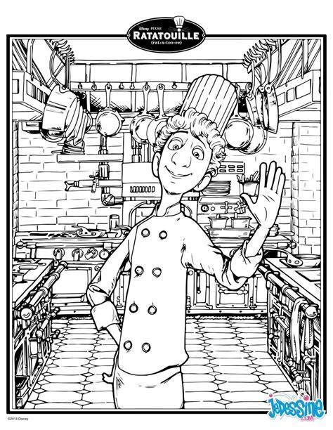 comis de cuisine coloriages ratatouille linguini fr hellokids com