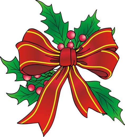 Christmas bows clipart free - Clip Art Library
