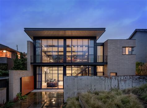 Best Interior Designed Homes - contemporary industrial house features an expressive interior of raw steel