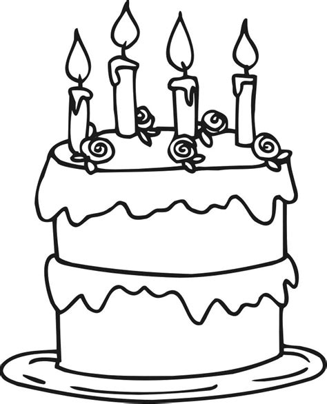 cake coloring pages    print