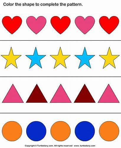 Shape Pattern Shapes Worksheet Complete Worksheets Patterns