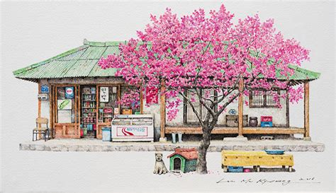 Artist Spends 20 Years Sketching South Korea's Little