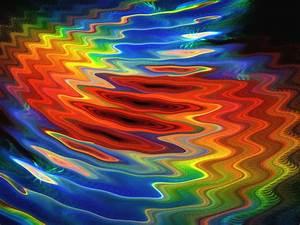Wavy Rainbow Background Free Stock Photo
