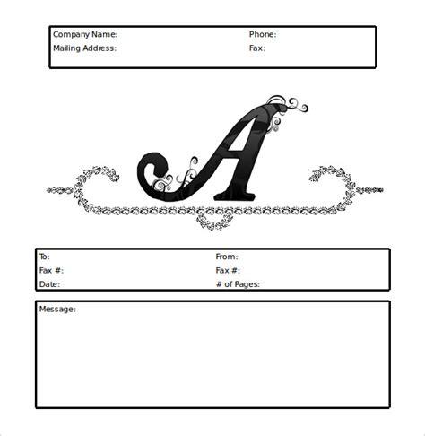 personal fax cover sheet  printable letterhead