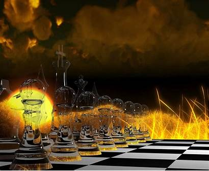 Chess Wallpapers Ajedrez Board Pantalla Fire Szachy