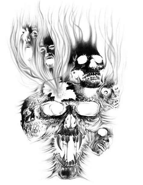 Evil Tattoo Flash Art | Evil Skull Tattoo Image | tattoos | Evil skull tattoo, Skull tattoo