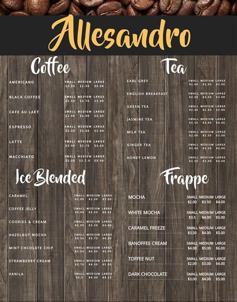 Coffee shop menu ideas coffee shop menu   ideas menu ในปี 2018 within cafe food menu ideas. Coffee shop menu board design template. Click to customize ...