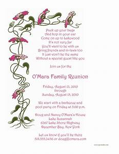 my blog With examples of family reunion invitation letter