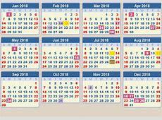 Public Holidays 2018 2018 calendar printable