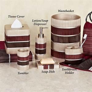 Stunning, Burgundy, Bathroom, Accessories, Decoration