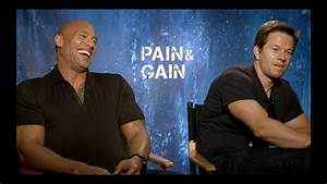 Pain  U0026 Gain Interview  Mark Wahlberg  Dwayne Johnson  Anthony Mackie  Tony Shaloub  Ken Jeong