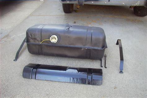 77 AMC Gremlin Begining Gas Tank Repair Picture 13