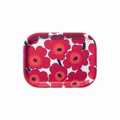 Unikko Marimekko Tablett Kleines Rot
