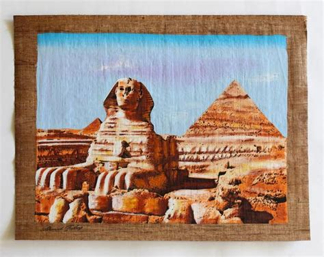 great sphinx  giza ancient egyptian papyrus