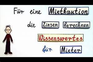 Mietkaution Berechnen : video f r eine mietkaution die zinsen berechnen wissenswertes f r mieter ~ Themetempest.com Abrechnung