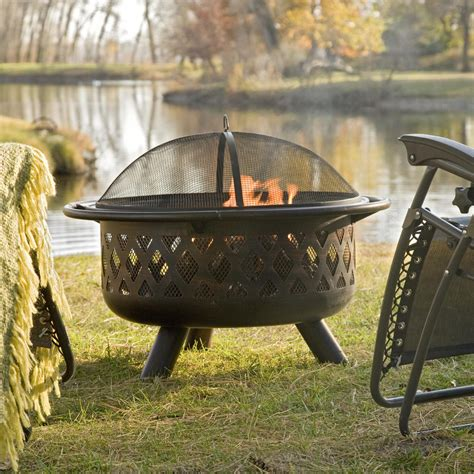 Red Ember Rubbed Bronze Crossweave 36 Inch Wood Burning