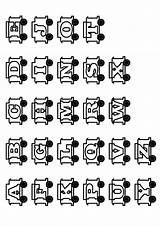 Coloring Alphabet Train Momjunction Parade sketch template