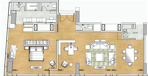 Disneyland Hotel 2 Bedroom Junior Suite Layout   Modern
