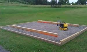 4x6 Storage Shed Plans by Shed Skid Leveling On Gravel Doityourself Com