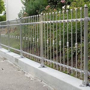 Metallzaun Selber Bauen : g nstige metallz une aus aluminium edelstahl ~ Whattoseeinmadrid.com Haus und Dekorationen