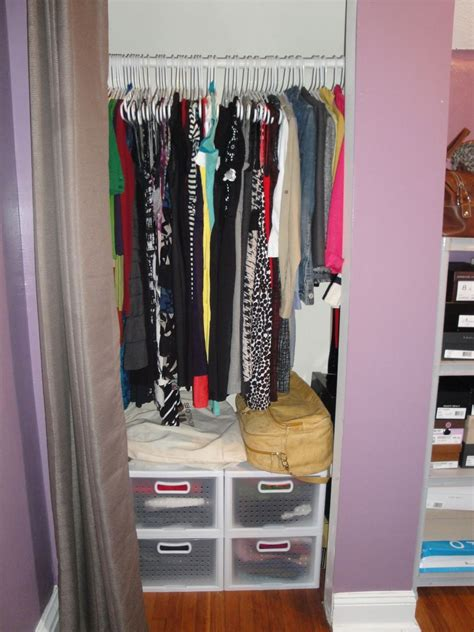 Small Bedroom Closet Organization Ideas by Organizing A Small Closet On A Budget Home Small