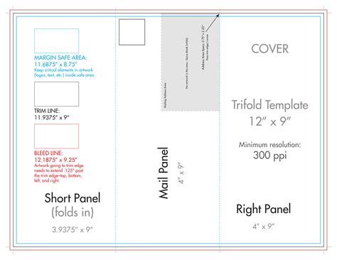 Custom Brochure Templates And Rack Brochure Templates 12 Quot X 9 Quot Rack Brochure Template Tri Fold U S Press