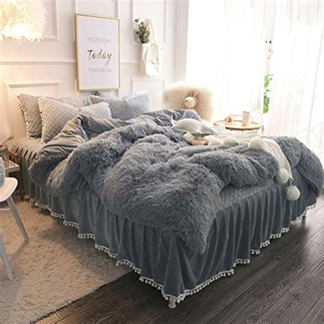 LIFEREVO Luxury Plush Shaggy Duvet Cover Set (1 Faux Fur