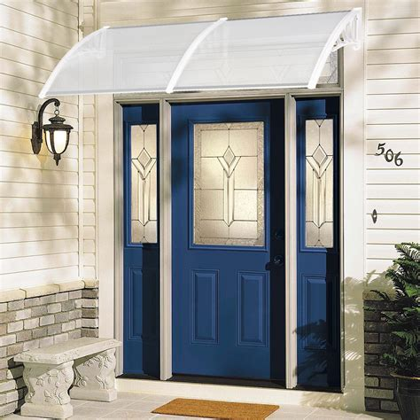 diy window awning front door canopy polycarbonate cover  home porch patio  ebay