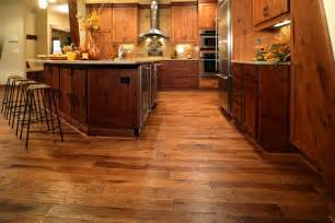 Hickory Cabinets with Hardwood Floors
