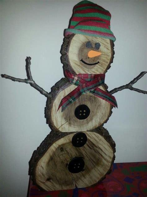 log snowman black walnut christmas handmade wooden
