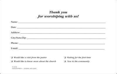church visitor information cards google search