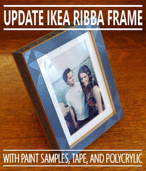 cheap ikea ribba frame update plaster disaster