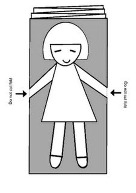 d d caign template paper doll chain clipart 39
