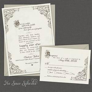 fairytale printable wedding invitation happy by hesawsparks With fairytale wedding invitations etsy