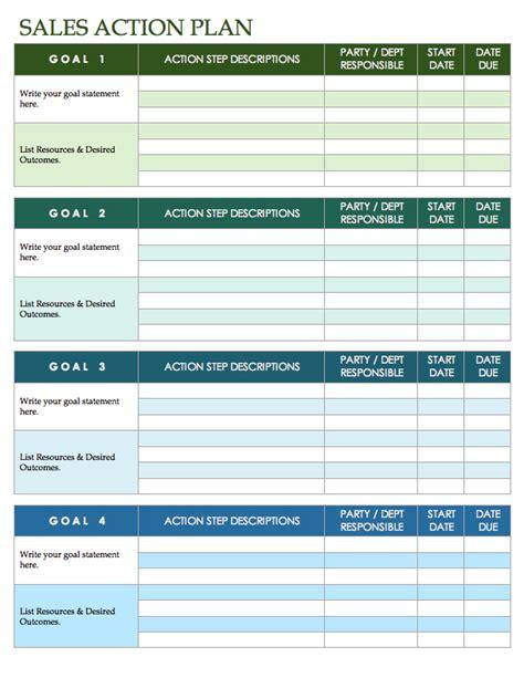 sales template excel free sales plan templates smartsheet