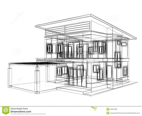 sketch design  house stock illustration illustration
