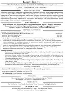 food and beverage director resume food services resume exles resume professional writers