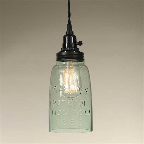 mason jar pendant lamp light globe brown emory valley