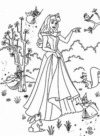 Princess Coloring Pages Printable Allkidsnetwork