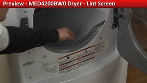 Lint Screen Replacement - Med4200bw0 Maytag Dryer