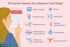 10 Reasons For A Missed Period