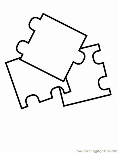 Puzzle Coloring Pieces Piece Printable Pages Colouring