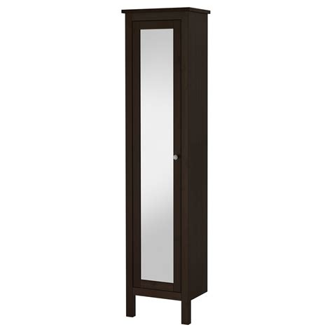 ikea tall narrow cabinet hemnes high cabinet with mirror door black brown stain