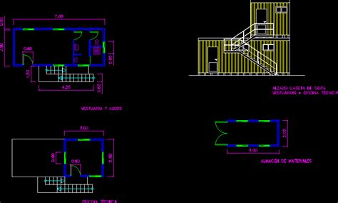 temporary stands  work dwg detail  autocad designs cad