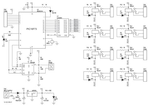 Channel Driven Relay Board Schematic Electronics Lab