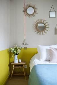 peinture murale jaune pastel palzoncom With idee couleur mur salon 12 nos astuces en photos pour peindre une piace en deux