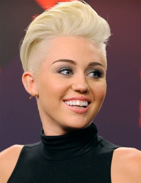 Women's Hairstyles: Shave And A Haircut For Women Miley