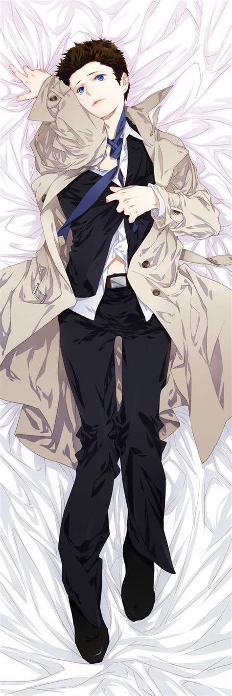 anime hug pillow spn castiel hugging pillow by siruphial on deviantart