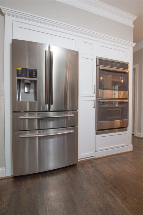 fridge  double oven wall  shaker style panels  cabinetry ccff kitchens